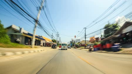 jam : Driving time lapse on Ko Samui island, Thailand on February 2nd 2014. Stock Footage