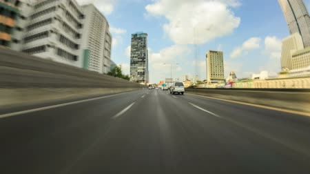 jam : Driving time lapse on highway through Bangkok, Thailand on February 8th 2014. Stock Footage