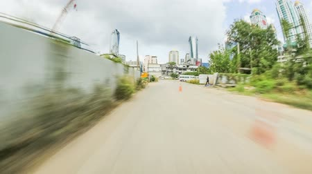 jam : Driving time lapse through Bangkok, Thailand on February 8th 2014. Stock Footage