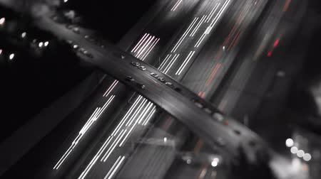 gerçeküstü : v23. TIme lapse clip of freeway traffic at night using a tilt shift lens.