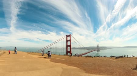 ingázó : v5. Wide time lapse of Golden gate bridge.