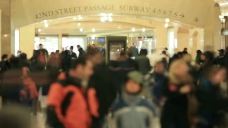 unrecognizable people : v3. Time lapse of Grand Central Station pedestrian traffic.