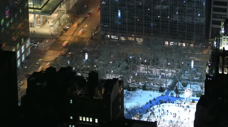 crosswalk : v1. Time lapse of 42nd and Avenue of the Americas from above. Stock Footage