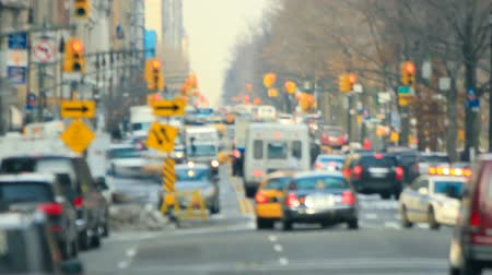 indústria : v8. Zooming New York City traffic time lapse shot.