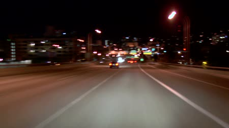 crowded : v1. I-405 South night time lapse going through Portland city center at night.