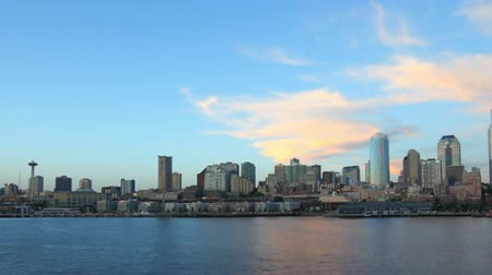 side view : v53. Ferry ride with side view of Seattle cityscape.