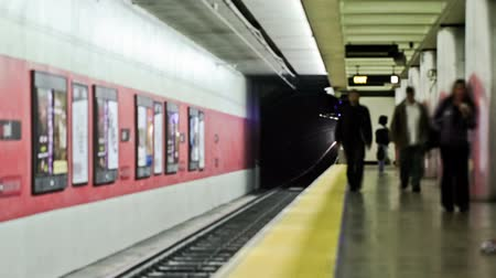 time journey : v1. San Francisco subway time lapse. Stock Footage