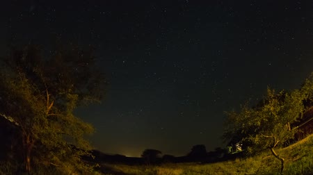 délre : v2. Star time lapse clip in Kruger Park, South Africa using a fisheye lens. Stock mozgókép