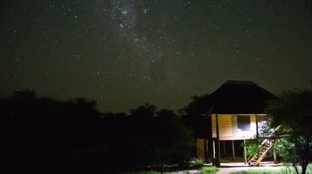 sul : v3. Star time lapse clip in Kruger Park, South Africa of the Milky Way. Vídeos