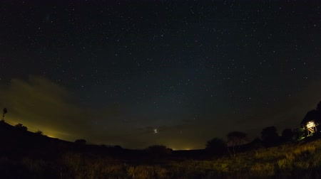 градиент : v4. Star time lapse clip in Kruger Park, South Africa using a fisheye lens.