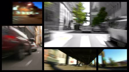 složení : v12. Video montage of city driving related media. Loopable.