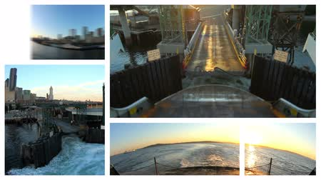 samochody : v14. Video montage of Seattle Ferry related media. Loopable.
