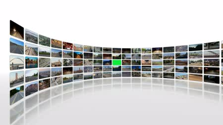 multimediální : v9. Video wall of HD transportation videos. Zooming and panning into green screen for adding your own videos. Dostupné videozáznamy