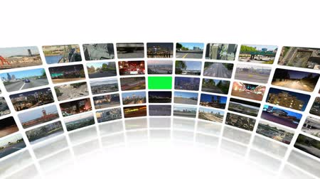 безопасность : v20. Video wall of HD transportation videos. Zoom into green screen center for adding your own videos. Стоковые видеозаписи