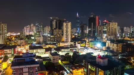 destinos : v116. Panama cityscape time lapse at night.