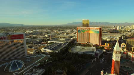 usa : Las Vegas Aerial Cityscape Strip v10 Low flying aerial over strip. 21815