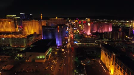 światło : Las Vegas Aerial Cityscape Strip Night v17 Low flying aerial over strip. 21815