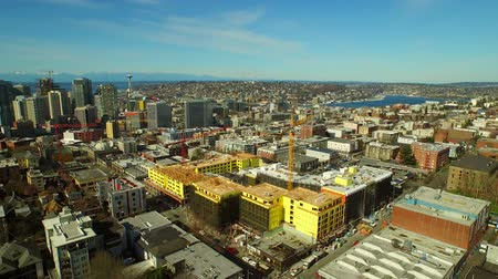 finanziaria : V84 Seattle aerea Volare a bassa quota zona Capital Hill verso South Lake Union.