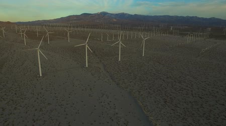 следы : Wind Turbine Aerial v4 Flying low over large wind turbines.