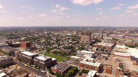 cambridge : Boston Aerial v17 Flying low over MIT campus with side view.