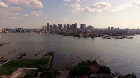 area of port : Boston Aerial v50 Flying low over East Boston towards downtown.
