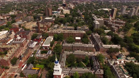 cambridge : Boston Aerial v118 Flying low over Harvard campus panning down.