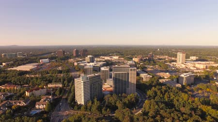 molas : Atlanta Aerial v93 Flying low over Sandy Springs panning.
