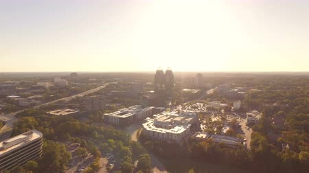 molas : Atlanta Aerial v94 Flying low over Sandy Springs panning. Stock Footage