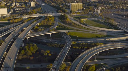 yirmi : Atlanta Aerial v121 Flying low over freeway interchange.