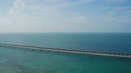 sete : Florida Keys Aerial v7 Flying besides Seven Mile Bridge panning.