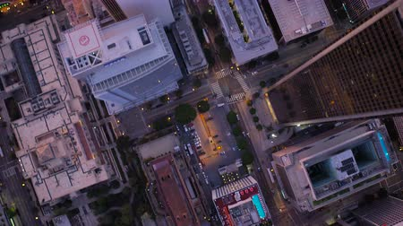 havai : Los Angeles Aerial v115 Vertical shot looking down over downtown panning.