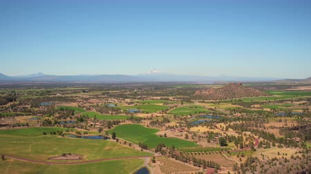 irrigate : Oregon Aerial v6 Flying low over Smith Rocks with panoramic mountain views