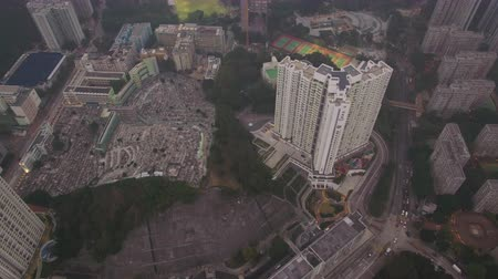 looking down : Hong Kong Aerial v64 Birdseye view flying over Pak Hok Shan area Stock Footage