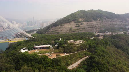 palmo : Hong Kong Aerial v162 Flying low around Lantau Link park