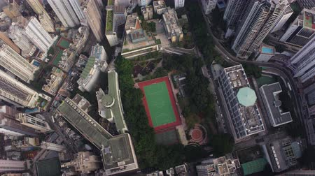 vertically : Hong Kong Aerial v177 Vertical birdseye view flying over Tai Ping Shan area