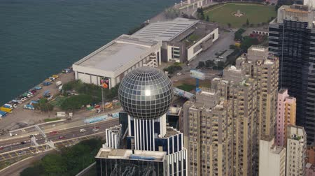 birdseye : Hong Kong Aerial v42 Cineflex closeup view flying around The Westpoint building. 217