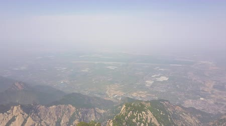 shaanxi : China Mt Huashan Aerial v14 Flying high over mountain peaks 517