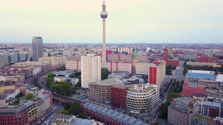 rathaus : Germany Berlin Aerial v27 Flying low around Hackescher Market area with cityscape views 817