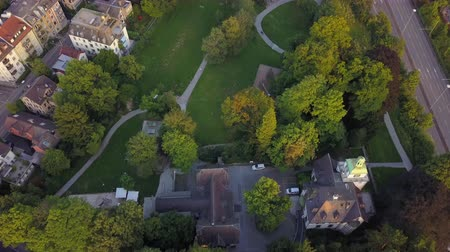 мостовая : Switzerland Zurich Aerial v16 Birdseye view flying low over Schindlergut park 817