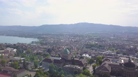 sete : Switzerland Zurich Aerial v28 Flying low around University buildings and campus cityscape views 817