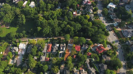 affluent : Atlanta Aerial v344 Birdseye flying low over Ansley neighborhood and Midtown area sunny 1117