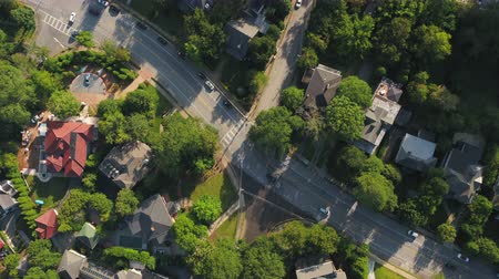 looking down : Atlanta Aerial v345 Vertical view flying low over Ansley neighborhood and Midtown area sunny 1117