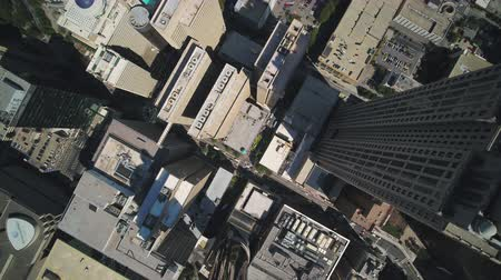 vertically : Atlanta Aerial v355 Vertical view flying over downtown area sunny 1117