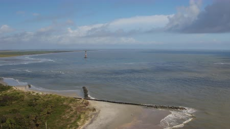 inspirar : South Carolina Charleston Folly Beach Aerial v38 Panning looking out to sea, Folly Beach 1017