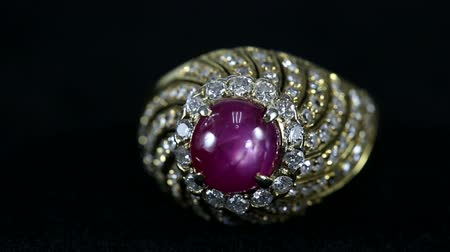 rubi : ruby ring Stock Footage