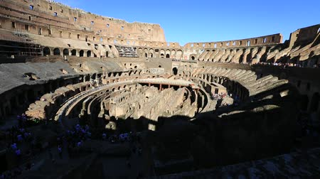 flavium : Rome, Italy - May 12, 2016: coliseum interior, the largest amphitheater in the world and one of the symbols of Rome located in Italy.