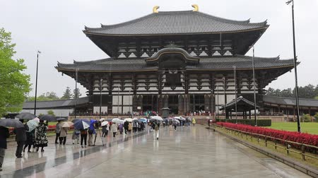 prospective : Nara, Japan - April 26, 2017: Todai-ji Buddhist Temple hosting the Great Buddha or Daibutsu, the worlds largest bronze statue of Buddha Vairocana and one of most important monuments in Nara.