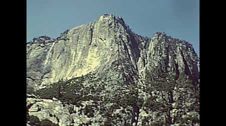 archívum : Yosemite Upper Falls in the Yosemite National Park in California state, United States. Archive footage in circa 1980.
