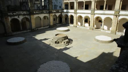 prospective : Portugal, Tomar. Prospective view of Claustro from Micha or Claustro da Micha, located in northern part of Convent of Christ in Templar Castle. Unesco Heritage and popular destination in Europe.