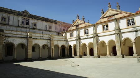 prospective : Panorama view of Micha Claustro from Portugal in Tomar. Claustro da Micha, in the Convent of Christ in Templar Castle. Unesco Heritage and popular destination in Europe.